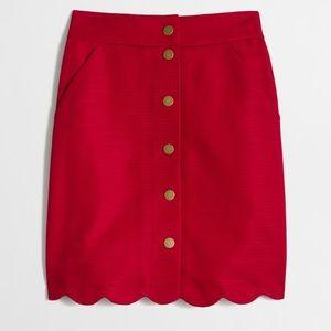 J. Crew scallop skirt
